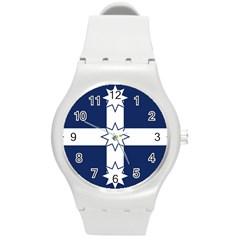 Eureka Flag Round Plastic Sport Watch (m)