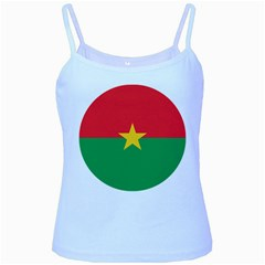 Roundel Of Burkina Faso Air Force Baby Blue Spaghetti Tank