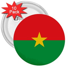 Roundel Of Burkina Faso Air Force 3  Buttons (10 Pack)