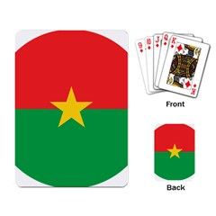 Roundel Of Burkina Faso Air Force Playing Card