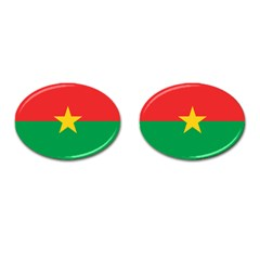 Roundel Of Burkina Faso Air Force Cufflinks (oval)
