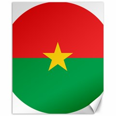 Roundel Of Burkina Faso Air Force Canvas 16  X 20