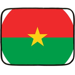 Roundel Of Burkina Faso Air Force Double Sided Fleece Blanket (mini)