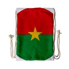 Roundel Of Burkina Faso Air Force Drawstring Bag (small)
