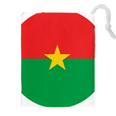 Roundel Of Burkina Faso Air Force Drawstring Pouches (xxl) by abbeyz71