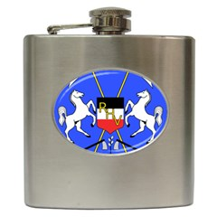 Coat Of Arms Of Upper Volta Hip Flask (6 Oz) by abbeyz71