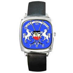 Coat Of Arms Of Upper Volta Square Metal Watch