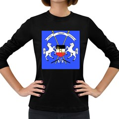Coat Of Arms Of Upper Volta Women s Long Sleeve Dark T Shirts