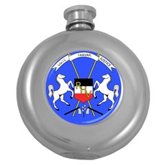 Coat Of Arms Of Upper Volta Round Hip Flask (5 Oz) by abbeyz71