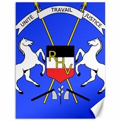 Coat Of Arms Of Upper Volta Canvas 18  X 24