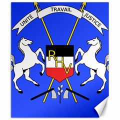 Coat Of Arms Of Upper Volta Canvas 20  X 24