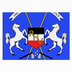 Coat Of Arms Of Upper Volta Large Glasses Cloth (2 Side)