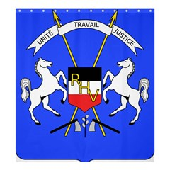 Coat Of Arms Of Upper Volta Shower Curtain 66  X 72  (large)