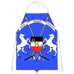 Coat Of Arms Of Upper Volta Full Print Aprons