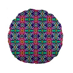 Artwork By Patrick Colorful 34 1 Standard 15  Premium Round Cushions