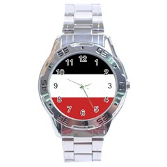 Flag Of Upper Volta Stainless Steel Analogue Watch