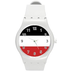 Flag Of Upper Volta Round Plastic Sport Watch (m)