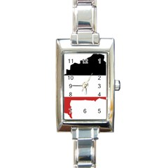 Flag Map Of Upper Volta Rectangle Italian Charm Watch