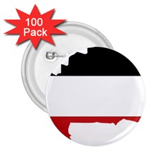 Flag Map Of Upper Volta 2 25  Buttons (100 Pack)