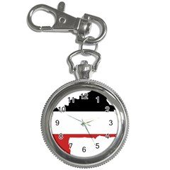 Flag Map Of Upper Volta Key Chain Watches by abbeyz71