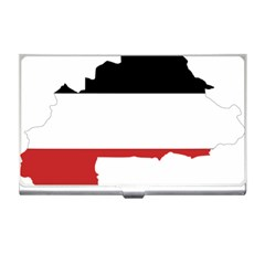 Flag Map Of Upper Volta Business Card Holders