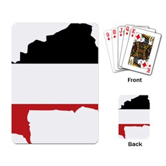 Flag Map Of Upper Volta Playing Card