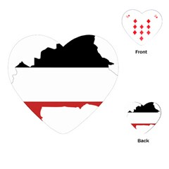 Flag Map Of Upper Volta Playing Cards (heart)