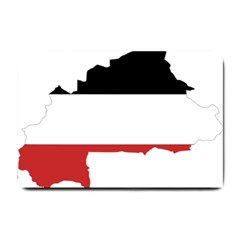 Flag Map Of Upper Volta Small Doormat