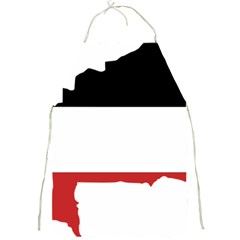 Flag Map Of Upper Volta Full Print Aprons