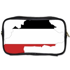 Flag Map Of Upper Volta Toiletries Bags 2 Side
