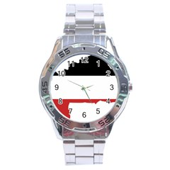 Flag Map Of Upper Volta Stainless Steel Analogue Watch by abbeyz71