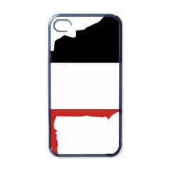 Flag Map Of Upper Volta Apple Iphone 4 Case (black)