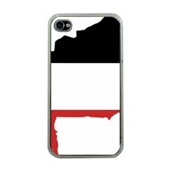 Flag Map Of Upper Volta Apple Iphone 4 Case (clear)