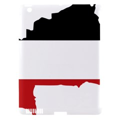 Flag Map Of Upper Volta Apple Ipad 3/4 Hardshell Case (compatible With Smart Cover)