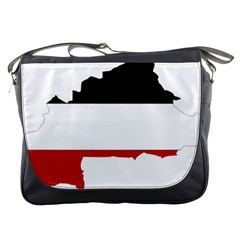Flag Map Of Upper Volta Messenger Bags