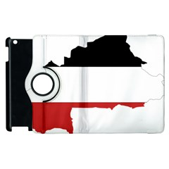 Flag Map Of Upper Volta Apple Ipad 3/4 Flip 360 Case