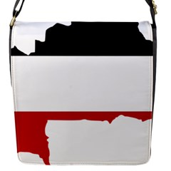 Flag Map Of Upper Volta Flap Messenger Bag (s)