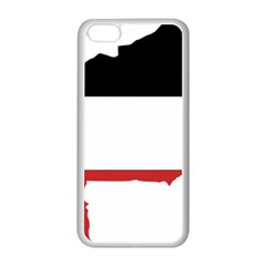 Flag Map Of Upper Volta Apple Iphone 5c Seamless Case (white)