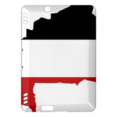 Flag Map Of Upper Volta Kindle Fire Hdx Hardshell Case