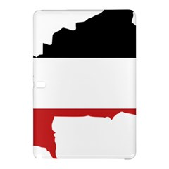 Flag Map Of Upper Volta Samsung Galaxy Tab Pro 12 2 Hardshell Case
