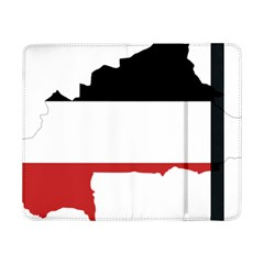 Flag Map Of Upper Volta Samsung Galaxy Tab Pro 8 4  Flip Case