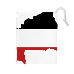 Flag Map Of Upper Volta Drawstring Pouches (large)  by abbeyz71