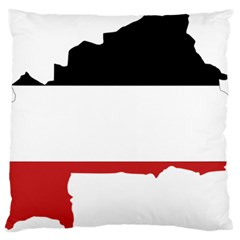 Flag Map Of Upper Volta Standard Flano Cushion Case (one Side) by abbeyz71