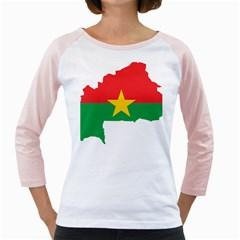 Burkina Faso Flag Map  Girly Raglans