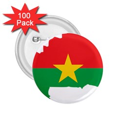 Burkina Faso Flag Map  2 25  Buttons (100 Pack)  by abbeyz71