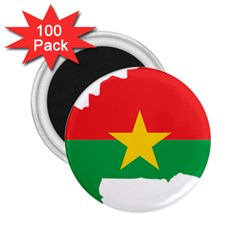 Burkina Faso Flag Map  2 25  Magnets (100 Pack)  by abbeyz71