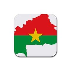 Burkina Faso Flag Map  Rubber Coaster (square)  by abbeyz71