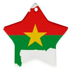 Burkina Faso Flag Map  Star Ornament (two Sides) by abbeyz71