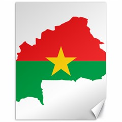 Burkina Faso Flag Map  Canvas 18  X 24