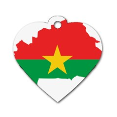 Burkina Faso Flag Map  Dog Tag Heart (two Sides)